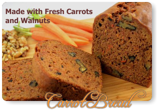 Fresh Carrot Bread Loaded with Carrots and Walnuts