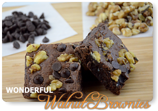 Wonderful Walnut Brownies